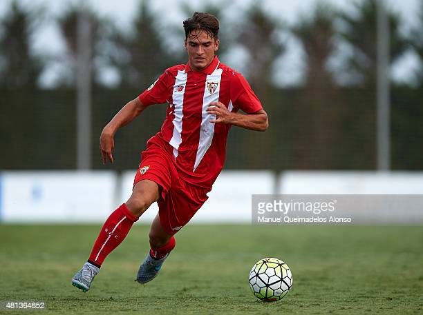 Denis Suarez of Sevilla in action during a Pre Season Friendly match between Sevilla and Alcorcon at Pinatar Arena Stadium on July 19 2015 in San...