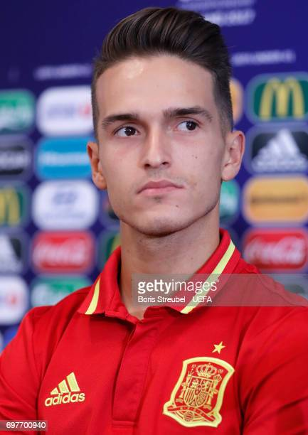 Denis Suarez of Spain attends the MD1 Press conference at Gdynia Sports Arena on June 19 2017 in Gdynia Poland