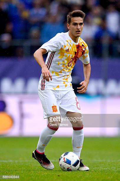 Denis Suarez of Spain runs with the ball during an international friendly match between Spain and Bosnia at the AFG Arena on May 29 2016 in St Gallen...