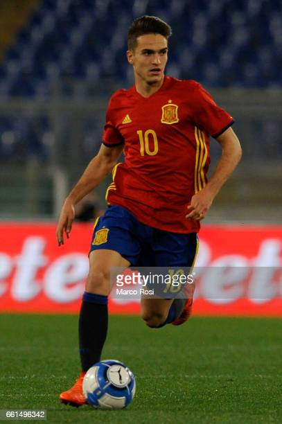 Denis Suarez of Spain U21 during the international friendly match between Italy U21 and Spain U21 at Olimpico Stadium on March 27 2017 in Rome Italy