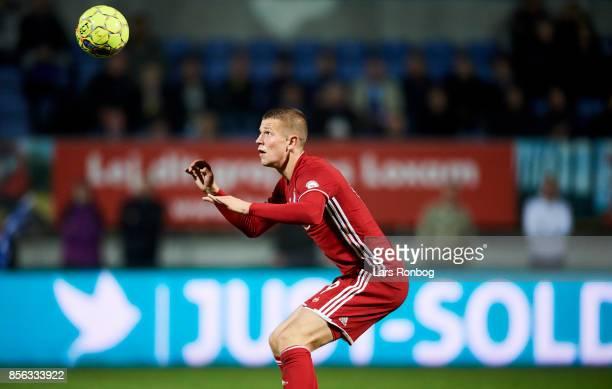 Denis Vavro of FC Copenhagen in action during the Danish Alka Superliga match between Lyngby BK and FC Copenhagen at Lyngby Stadion on October 1 2017...