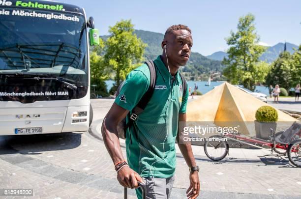 Denis Zakaria of Borussia Moenchengladbach arrive at the Training Camp of Borussia Moenchengladbach on July 17 2017 in RottachEgern Germany