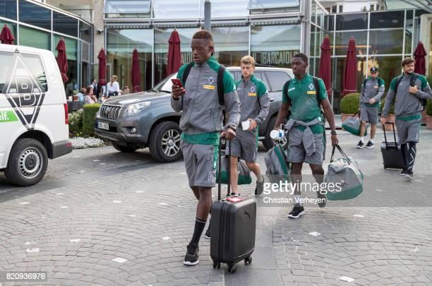 Denis Zakaria of Borussia Moenchengladbach leave the Training Camp of Borussia Moenchengladbach on July 22 2017 in RottachEgern Germany