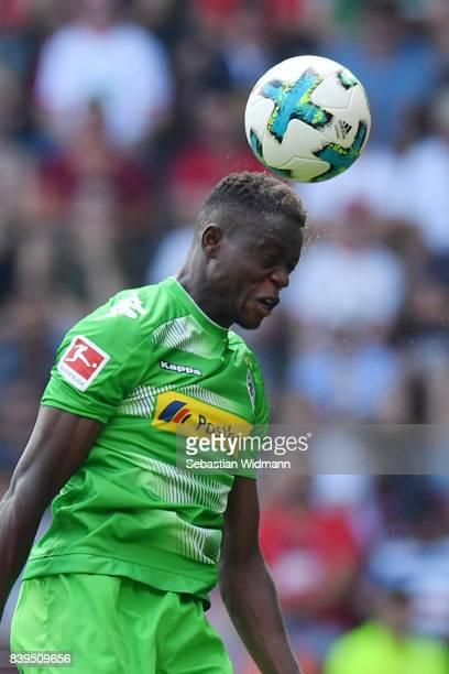 Denis Zakaria of Moenchengladbach during the Bundesliga match between FC Augsburg and Borussia Moenchengladbach at WWKArena on August 26 2017 in...