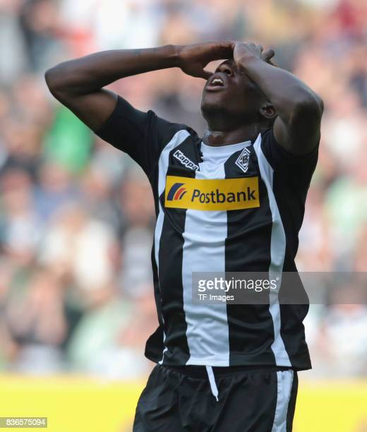 Denis Zakaria of Moenchengladbach gestures during the Bundesliga match between Borussia Moenchengladbach and 1 FC Koeln at BorussiaPark on August 20...