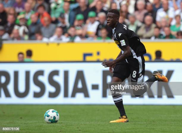Denis Zakaria of Moenchengladbach in action during the Bundesliga match between Borussia Moenchengladbach and 1 FC Koeln at BorussiaPark on August 20...