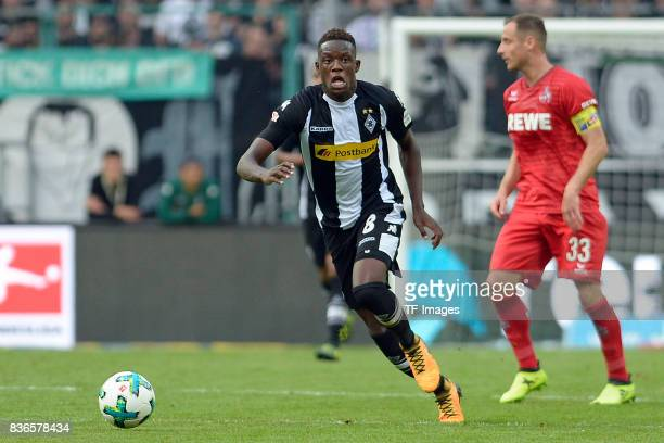 Denis Zakaria of Moenchengladbach looks on during the Bundesliga match between Borussia Moenchengladbach and 1 FC Koeln at BorussiaPark on August 20...