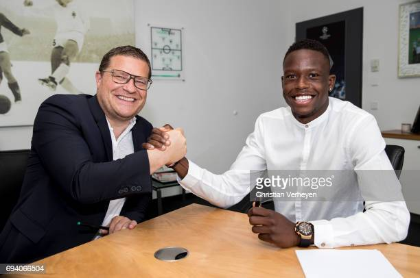 Denis Zakaria signs a contract with Borussia Moenchengladbach at BorussiaPark on June 09 2017 in Moenchengladbach Germany