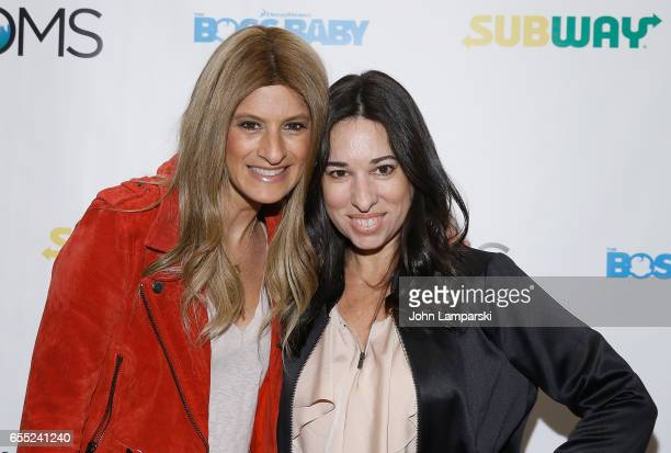 Denise Albert and Melissa Musen Gerstein attend Mamarazzi screening Of 'The Boss Baby'at Dolby 88 Theater on March 19 2017 in New York City
