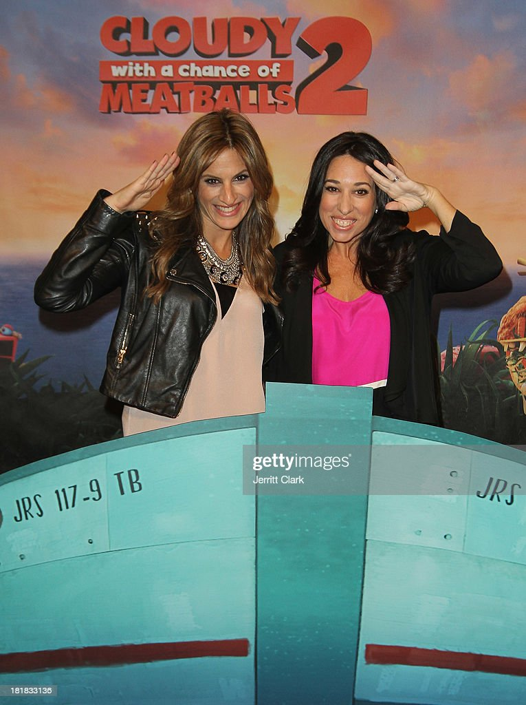 Denise Albert and Melissa Musen Gerstein of The MOMS host The Mom's Screening Of 'Cloudy With A Chance Of Meatballs 2' at AMC Lincoln Square Theater on September 25, 2013 in New York City.