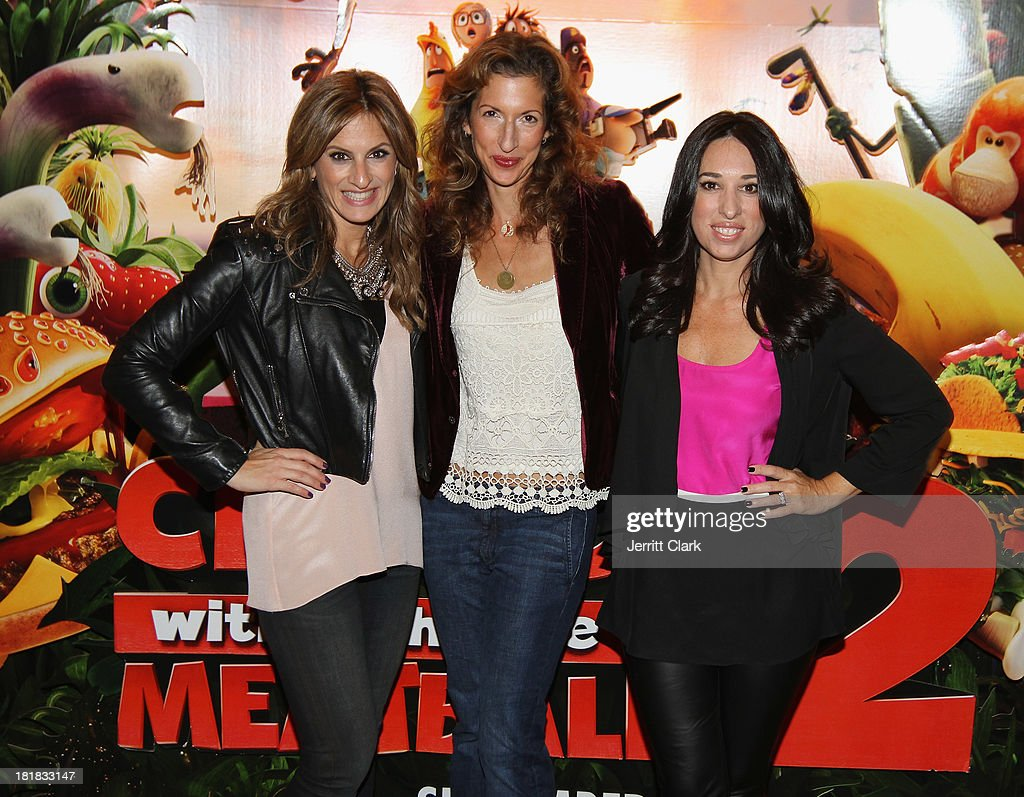 Denise Albert and Melissa Musen Gerstein of The MOMS pose w actress <a gi-track='captionPersonalityLinkClicked' href=/galleries/search?phrase=Alysia+Reiner&family=editorial&specificpeople=655685 ng-click='$event.stopPropagation()'>Alysia Reiner</a> at The Mom's Screening Of 'Cloudy With A Chance Of Meatballs 2' at AMC Lincoln Square Theater on September 25, 2013 in New York City.
