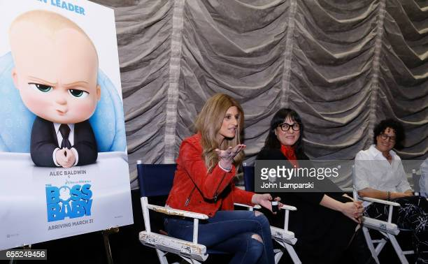 Denise Albert Producer Ramsey Ann Naito and Writer Marla Frazee attend Mamarazzi screening Of 'The Boss Baby'at Dolby 88 Theater on March 19 2017 in...