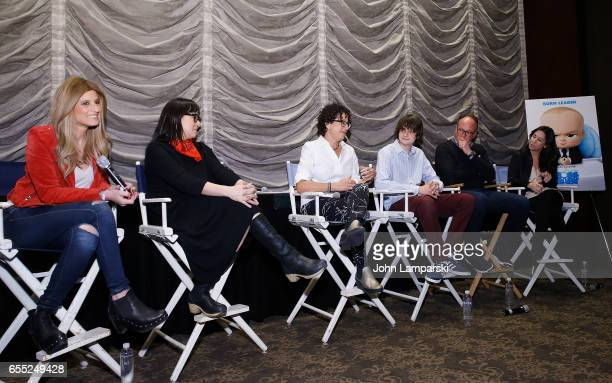 Denise Albert Producer Ramsey Ann Naito Writer Marla Frazee Miles Bakshi Director Tom McGrath and Melissa Musen Gerstein attend Mamarazzi screening...