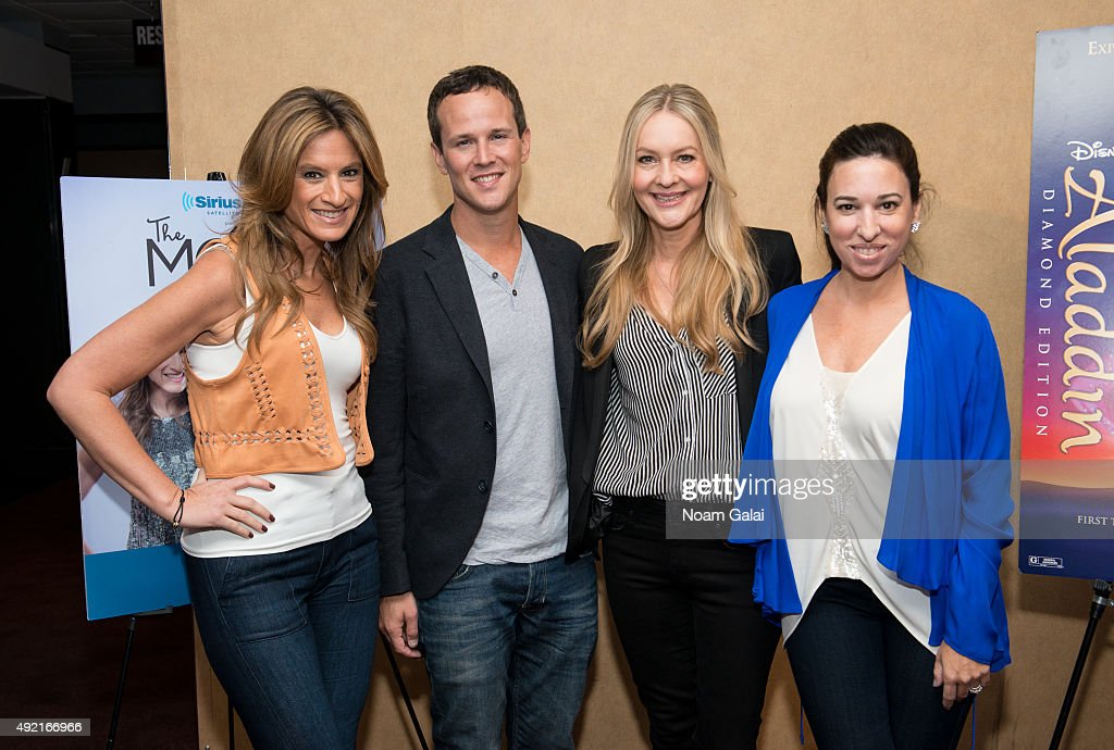 Denise Albert, Scott Weinger, Linda Larkin and Melissa Musen Gerstein attend The MOMS Mamarazzi viewing of Disney's 'Aladdin' Diamond Edition at Chelsea Bow Tie Cinemas on October 10, 2015 in New York City.