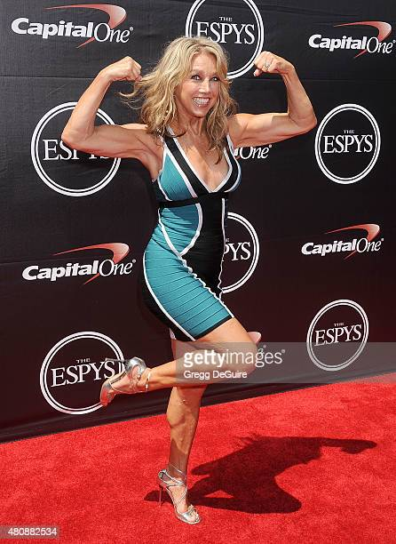 Denise Austin arrives at The 2015 ESPYS at Microsoft Theater on July 15 2015 in Los Angeles California
