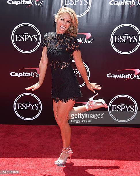 Denise Austin arrives at The 2016 ESPYS at Microsoft Theater on July 13 2016 in Los Angeles California