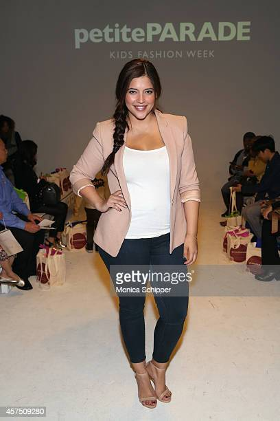 Denise Bidot poses before the Aria Children's Clothing preview at petitePARADE / Kids Fashion Week at Bathhouse Studios on October 19 2014 in New...