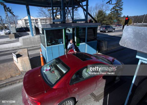 Denise Blanchette of Lewiston collects toll money at Exit 48 in Westbrook on Thursday March 23 2017 Gov Paul LePage has stated that he would like to...