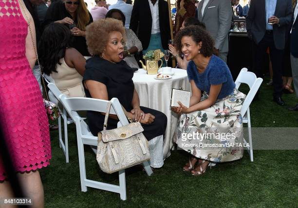 Denise Burse and Gugu MbathaRaw attend the BBC America BAFTA Los Angeles TV Tea Party 2017 at The Beverly Hilton Hotel on September 16 2017 in...