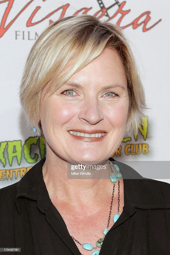 Denise Crosby arrives at the 2013 Viscera Film Festival Red Carpet Event at American Cinematheque's Egyptian Theatre on July 13, 2013 in Hollywood, California.