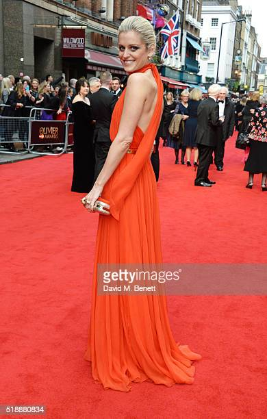 Denise Gough arrives at The Olivier Awards with Mastercard at The Royal Opera House on April 3 2016 in London England