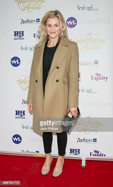 Denise Gough attends the Launch Party for the 16th annual Whatsonstage Awards at Cafe de Paris on December 3 2015 in London England