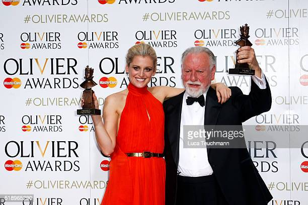Denise Gough winner of the Best Actress Award for 'People Places and Things' and Kenneth Cranham winner of the Best Actor award for 'The Father'...