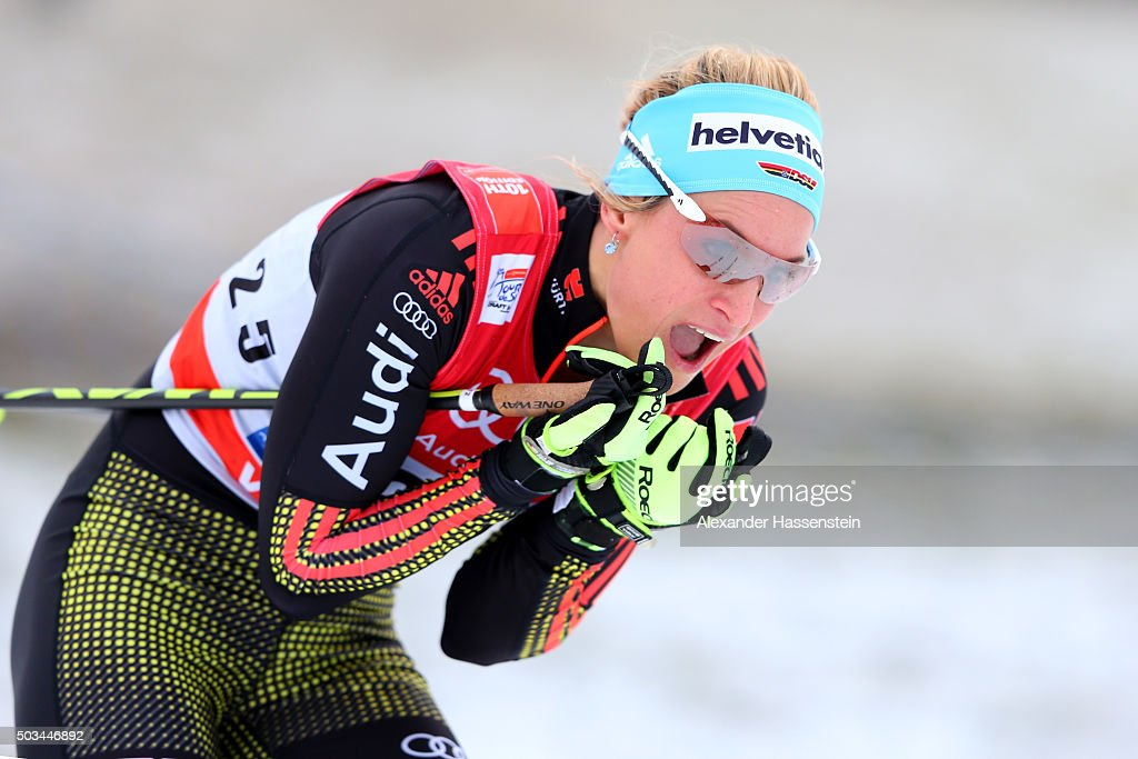 <a gi-track='captionPersonalityLinkClicked' href=/galleries/search?phrase=Denise+Herrmann&family=editorial&specificpeople=6670680 ng-click='$event.stopPropagation()'>Denise Herrmann</a> of Germany competes at the Ladies 1.2km Classic Sprint Competition during day 1 of the FIS Tour de Ski event on January 5, 2016 in Oberstdorf, Germany.