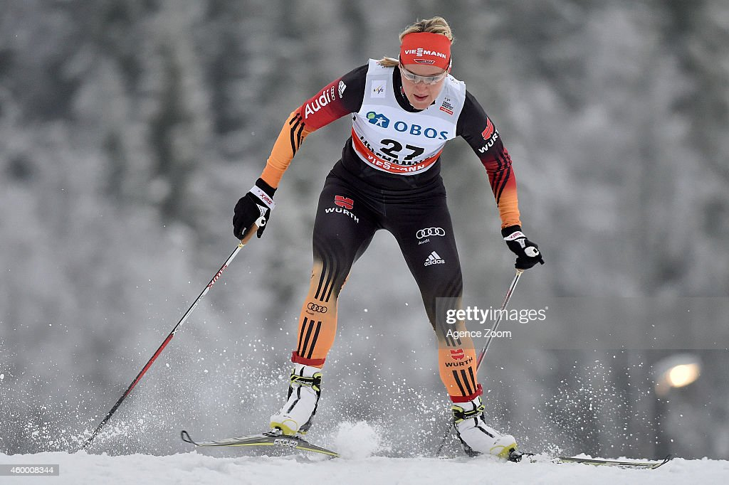 <a gi-track='captionPersonalityLinkClicked' href=/galleries/search?phrase=Denise+Herrmann&family=editorial&specificpeople=6670680 ng-click='$event.stopPropagation()'>Denise Herrmann</a> of Germany competes during the FIS Cross-Country World Cup Men's and Women's Sprint on December 05, 2014 in Lillehammer, Norway.