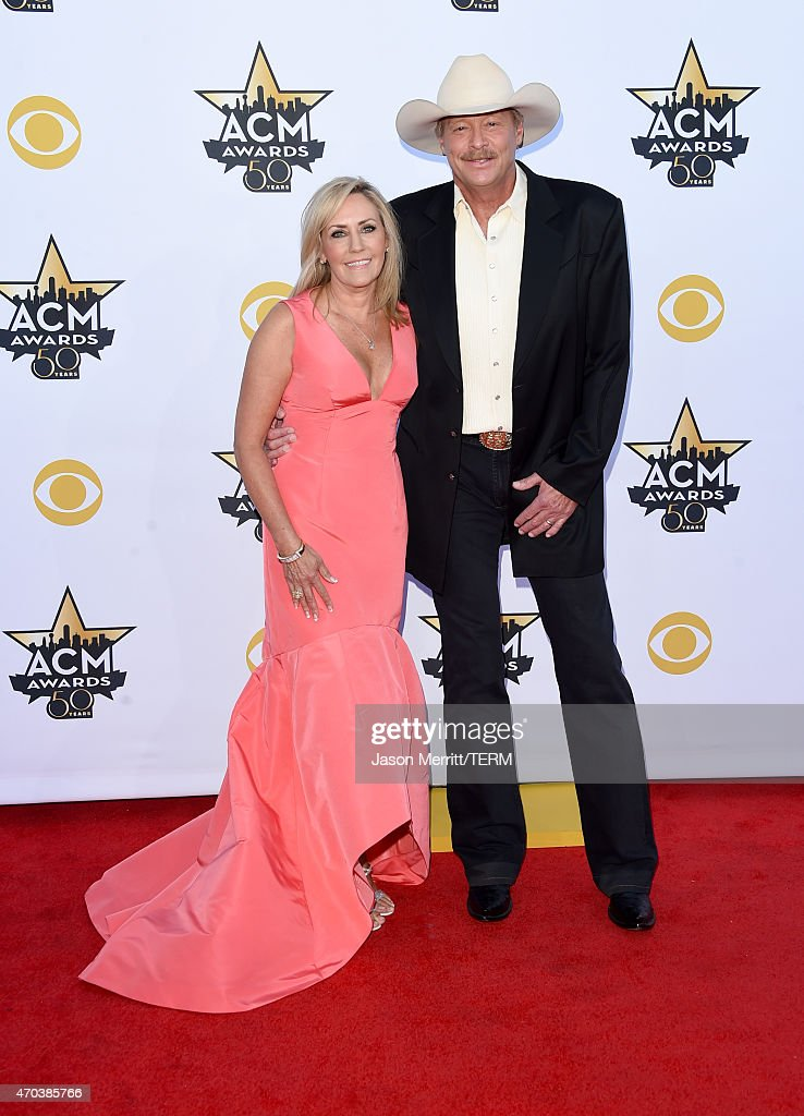 Denise Jackson and singer Alan Jackson attend the 50th Academy of Country Music Awards at ATT Stadium on April 19 2015 in Arlington Texas
