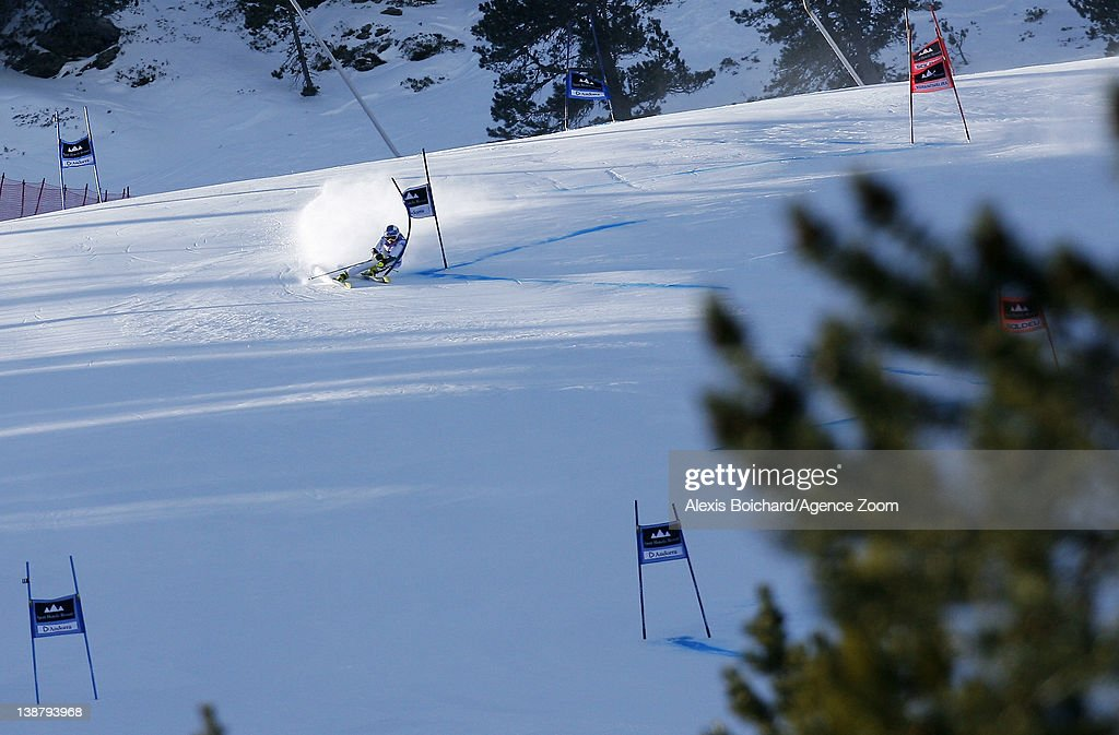 <a gi-track='captionPersonalityLinkClicked' href=/galleries/search?phrase=Denise+Karbon&family=editorial&specificpeople=878591 ng-click='$event.stopPropagation()'>Denise Karbon</a> of Italy competes during the Audi FIS Alpine Ski World Cup Women's Giant Slalom on February 12, 2012 in Soldeu, Andorra.