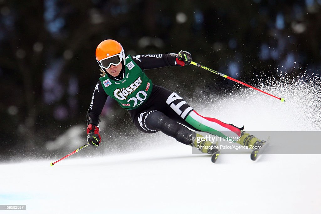 <a gi-track='captionPersonalityLinkClicked' href=/galleries/search?phrase=Denise+Karbon&family=editorial&specificpeople=878591 ng-click='$event.stopPropagation()'>Denise Karbon</a> of Italy competes during the Audi FIS Alpine Ski World Cup Women's Giant Slalom on December 28, 2013 in Lienz, Austria.