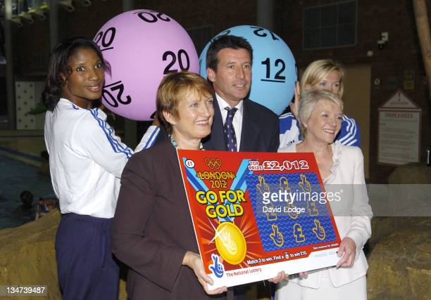 Denise Lewis and Lord Sebastian Coe and Tessa Jowell MP and Dianne Thompson and Shirley Robertson