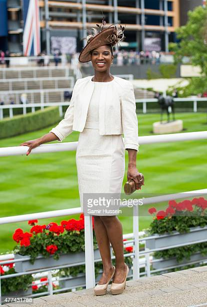 Denise Lewis attends day 2 of Royal Ascot at Ascot Racecourse on June 17 2015 in Ascot England