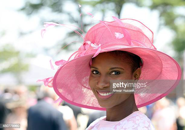 Denise Lewis attends the first day of Royal Ascot on June 17 2014 in Ascot England