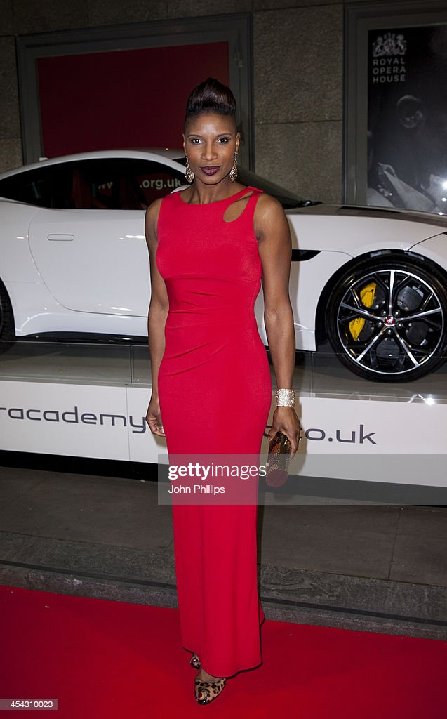 <a gi-track='captionPersonalityLinkClicked' href=/galleries/search?phrase=Denise+Lewis+-+Track+and+Field+Athlete&family=editorial&specificpeople=211595 ng-click='$event.stopPropagation()'>Denise Lewis</a> attends the Jaguar Academy of Sport annual awards at The Royal Opera House on December 8, 2013 in London, England.