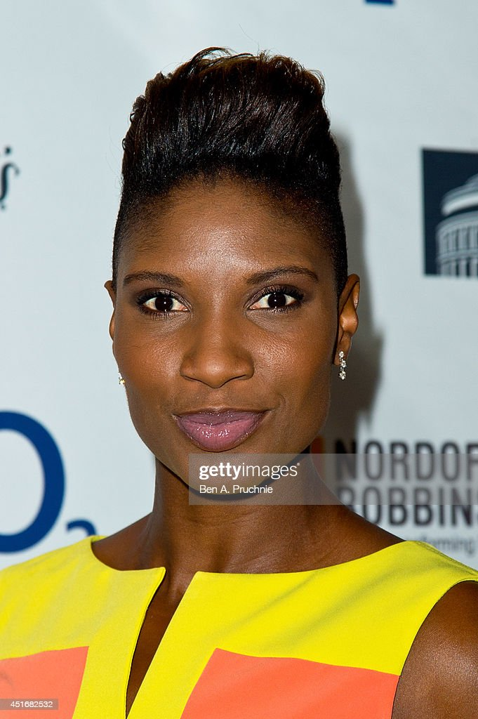 <a gi-track='captionPersonalityLinkClicked' href=/galleries/search?phrase=Denise+Lewis+-+Track+and+Field+Athlete&family=editorial&specificpeople=211595 ng-click='$event.stopPropagation()'>Denise Lewis</a> attends the Nordoff Robbins 02 Silver Clef awards at London Hilton on July 4, 2014 in London, England.