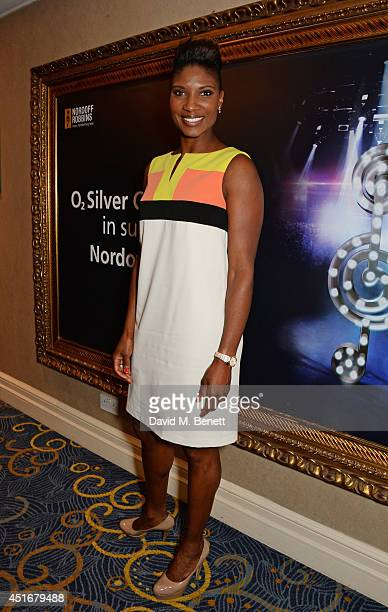 Denise Lewis attends the Nordoff Robbins 02 Silver Clef awards at the London Hilton on July 4 2014 in London England