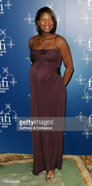 Denise Lewis during UK FiFi Awards 2006 Arrivals at The Dorchester in London Great Britain