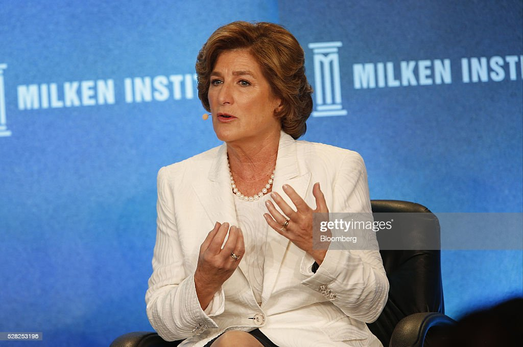 Denise Morrison, president and chief executive officer of Campbell Soup Co., speaks during the annual Milken Institute Global Conference in Beverly Hills , California, U.S., on Wednesday, May 4, 2016. The conference gathers attendees to explore solutions to today's most pressing challenges in financial markets, industry sectors, health, government and education. Photographer: Patrick T. Fallon/Bloomberg via Getty Images