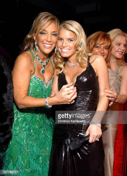 Denise Rich and Jessica Simpson during The GP Foundation for Cancer Research Salutes The World of Entertainment and Media at the 2003 Angel Ball at...