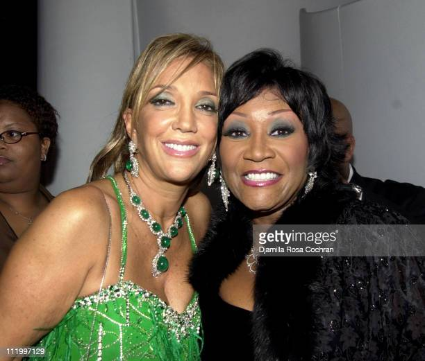 Denise Rich and Patti Labelle during Chopard Supports the GP Foundation for Cancer Research Salute to The World of Entertainment and Media at the...