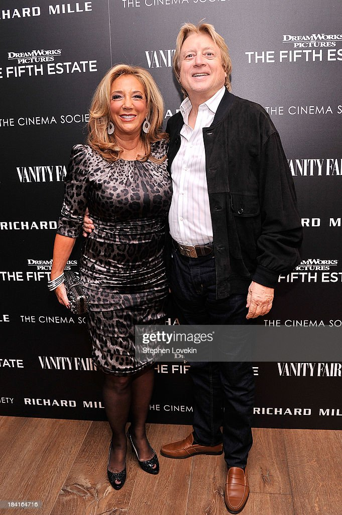 <a gi-track='captionPersonalityLinkClicked' href=/galleries/search?phrase=Denise+Rich&family=editorial&specificpeople=204678 ng-click='$event.stopPropagation()'>Denise Rich</a> and Peter Cervinka attend The Cinema Society with Vanity Fair & Richard Mille screening of DreamWorks Pictures' 'The Fifth Estate' at the Crosby Street Hotel on October 11, 2013 in New York City.