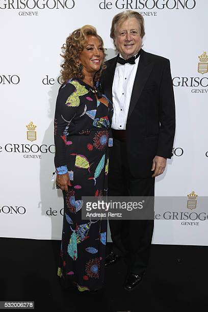 Denise Rich and Peter Cervinka attend the De Grisogono Party during the annual 69th Cannes Film Festival at Hotel du CapEdenRoc on May 17 2016 in Cap...