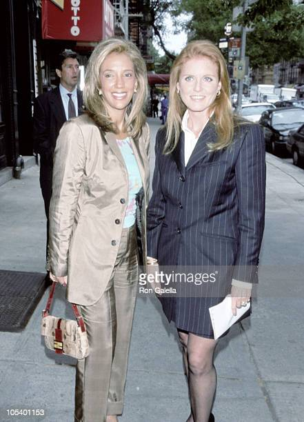 Denise Rich and Sarah Ferguson during Lunch in Honor of Sarah Ferguson for Kosovo Refugee Relief at Elaine's Restaurant in New York City New York...