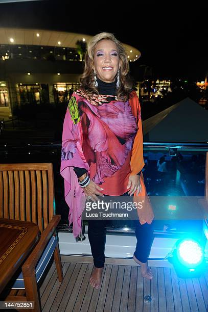 Denise Rich attends Cannes Cocktail Evening hosted by Eva Longoria and Denise Rich and produced by Total Management and MandA Events on May 18 2012...