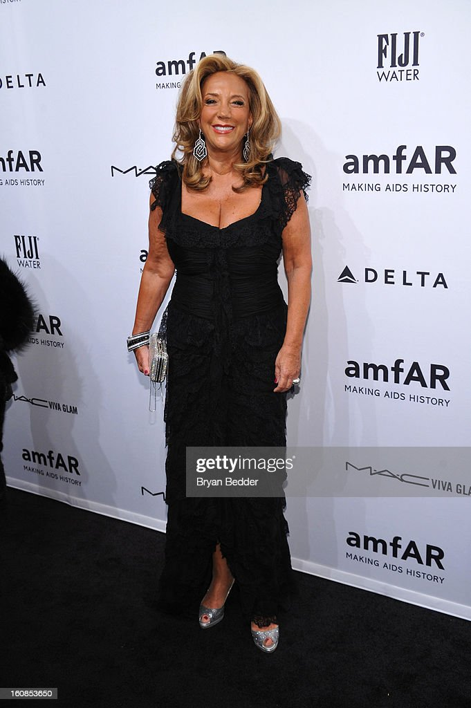Denise Rich attends the amfAR New York Gala to kick off Fall 2013 Fashion Week at Cipriani Wall Street on February 6, 2013 in New York City.