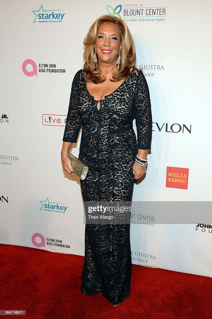 <a gi-track='captionPersonalityLinkClicked' href=/galleries/search?phrase=Denise+Rich&family=editorial&specificpeople=204678 ng-click='$event.stopPropagation()'>Denise Rich</a> attends the Elton John AIDS Foundation's 12th Annual An Enduring Vision Benefit at Cipriani Wall Street on October 15, 2013 in New York City.