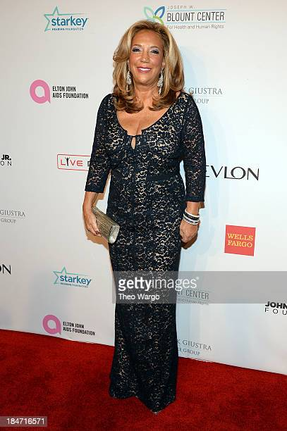 Denise Rich attends the Elton John AIDS Foundation's 12th Annual An Enduring Vision Benefit at Cipriani Wall Street on October 15 2013 in New York...
