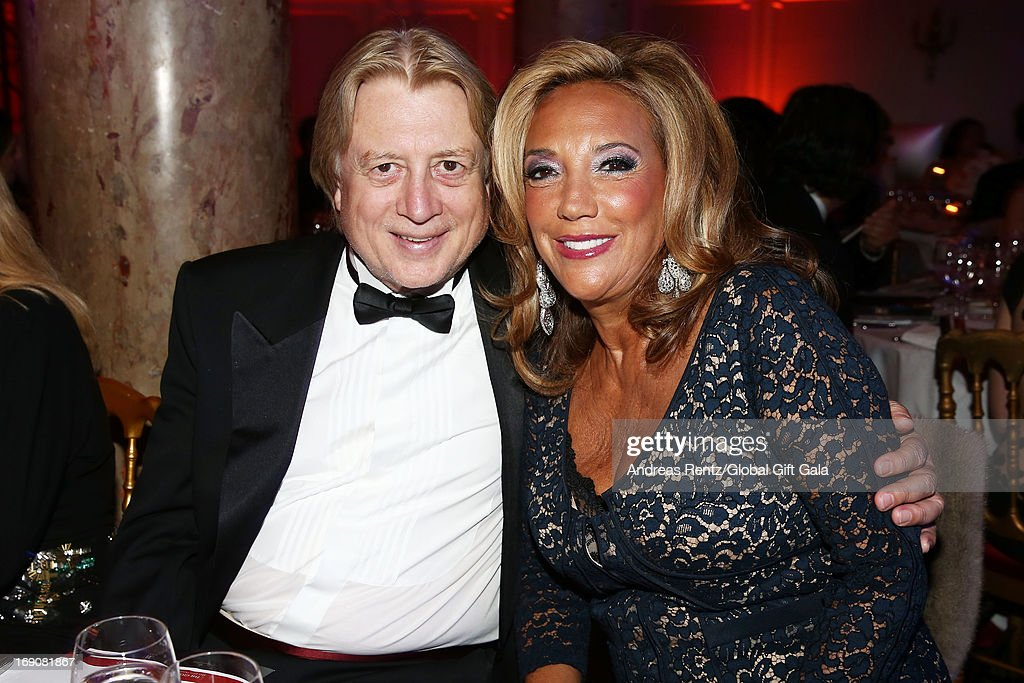 <a gi-track='captionPersonalityLinkClicked' href=/galleries/search?phrase=Denise+Rich&family=editorial&specificpeople=204678 ng-click='$event.stopPropagation()'>Denise Rich</a> (R) attends the 'Global Gift Gala' 2013 dinner and auction presented by Eva Longoria at Carlton Hotel on May 19, 2013 in Cannes, France.